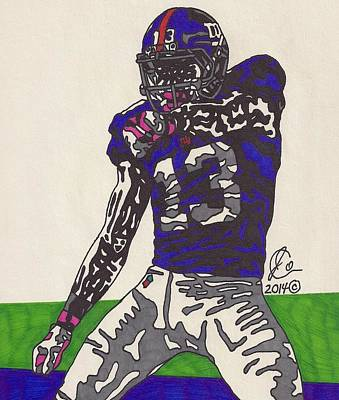 Odell Beckham Jr  Art Print by Jeremiah Colley