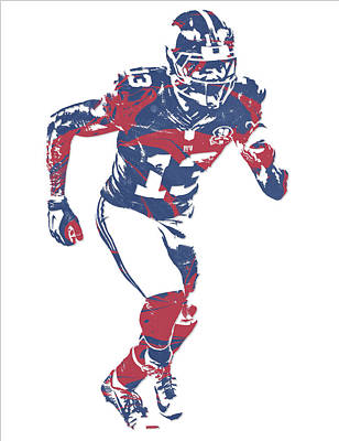 News Mixed Media - Odell Beckham Jr New York Giants Pixel Art 15 by Joe Hamilton