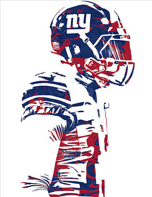 Beckham Mixed Media - Odell Beckham Jr New York Giants Pixel Art 4 by Joe Hamilton