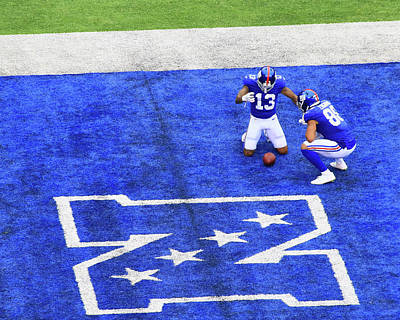 Photograph - Odell Beckham Jr Touchdown Celebration by Allen Beatty