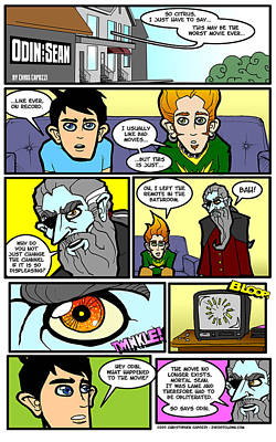 Drawing - Odin And Sean Webcomic by Christopher Capozzi