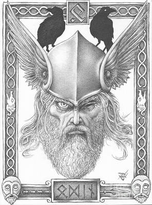 Drawing - Odin by Dan Moran
