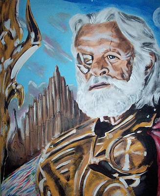 Anthony Hopkins Painting - Odin, King Of Asgard by Tom Tarpey