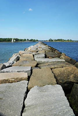 Photograph - Odiorne Breakwater by Richard Gibb