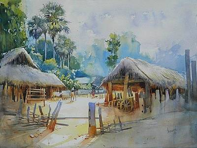 Painting - Odisha Village,15 by Bijay Biswaal