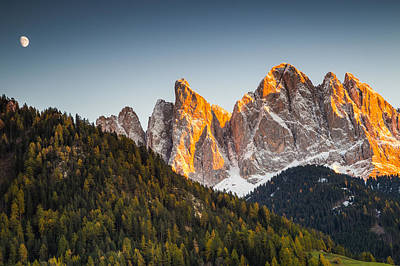 Photograph - Odle Peaks by Stefano Termanini