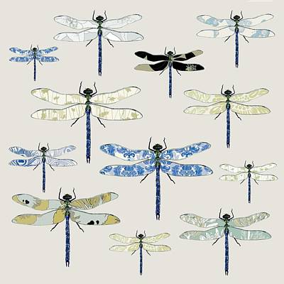 Flies Digital Art - Odonata by Sarah Hough