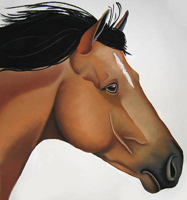 Horse Painting - Odysseus by Brenda Wolf