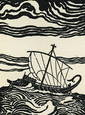 Odysseus's Ship Art Print