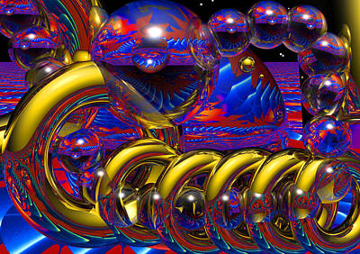 Multicolored Digital Art - Odyssey Of The Mind by Robert Orinski