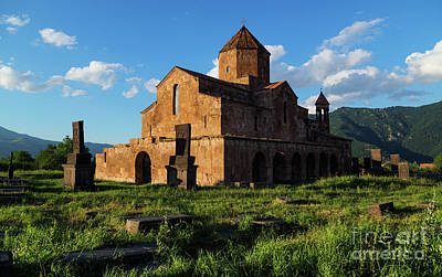 Photograph - Odzun Church And Puffy Clouds At Evening, Armenia by Gurgen Bakhshetsyan