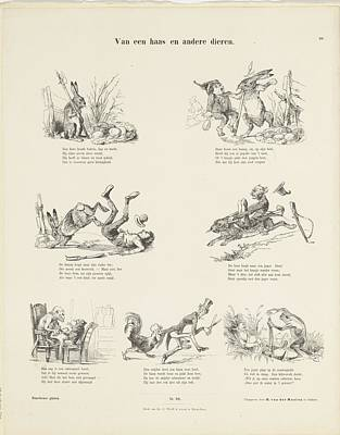 Drawing - Of A Hare And Other Animals Easter Bunny by R Muirhead Art