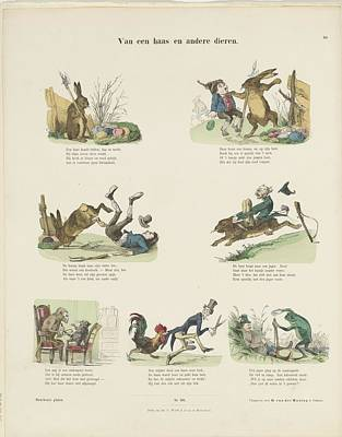 Drawing - Of A Hare And Other Animals In Colour Easter by R Muirhead Art