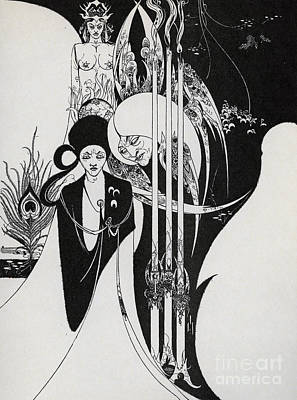 Of A Neophyte And How The Black Art Was Revealed Unto Him Print by Aubrey Beardsley
