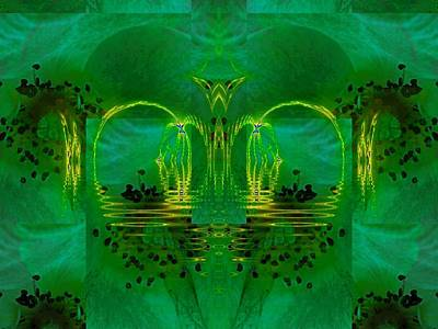 Digital Art - Of Arches And Flowers by Nancy Pauling