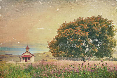 Textured Landscape Photograph - Of Days Gone By by Laurie Search