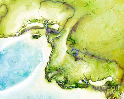 Digital Art - Of Earth And Water by Michelle H
