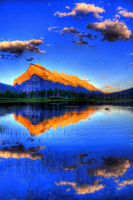 Canadian Rockies Photograph - Of Geese And Gods by Scott Mahon
