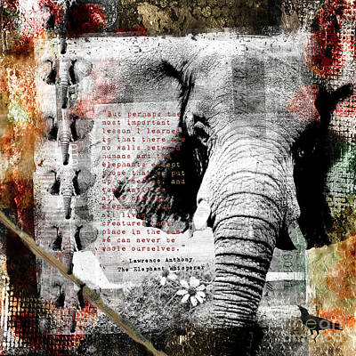 Digital Art - Of Elephants And Men by Nola Lee Kelsey