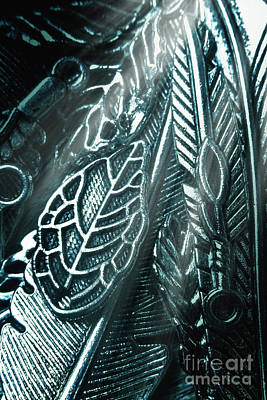 Silver Wall Art - Photograph - Of Leaves And Feathers by Jorgo Photography - Wall Art Gallery