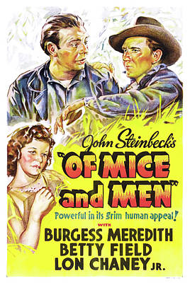 Mixed Media - Of Mice And Men 1939 by Mountain Dreams