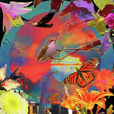 Digital Art - Of The Earth by John Freidenberg