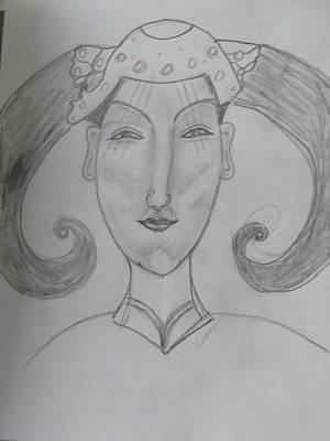 Drawing - Of The Ming Dynasty by Sharyn Winters
