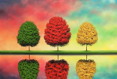 Colorful Sky Painting - Of Yesteryear by Rachel Bingaman