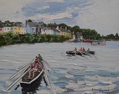 Painting - Off Currach Racing Roundstone by Diana Shephard