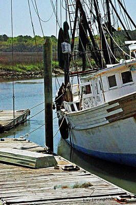 Photograph - Off Duty Shrimp Boat by Kay Lovingood