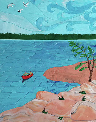 Painting - Off Grid Sabbatical by Michelle Vyn