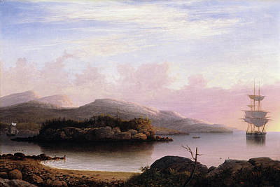 Painting - Off Mount Desert Island By Fitz Henry Lane 1856 by Fitz Henry Lane