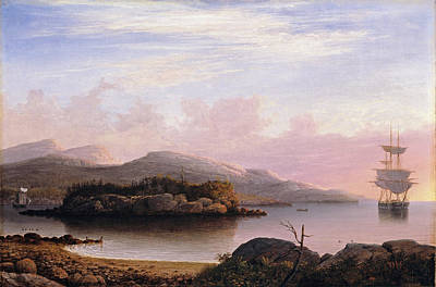 Fitz Painting - Off Mount Desert Island by Fitz Henry Lane