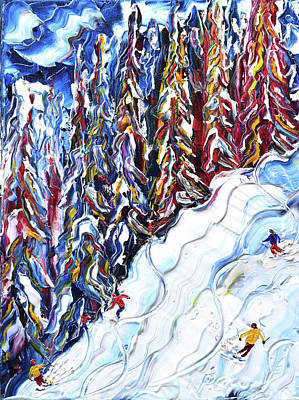 Painting - Off Piste Zermatt by Pete Caswell