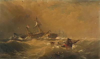 Painting - Off Sandy Hook by Edward Moran