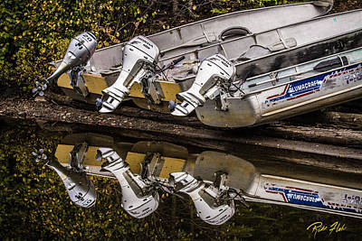 Photograph - Off Season Outboards by Rikk Flohr