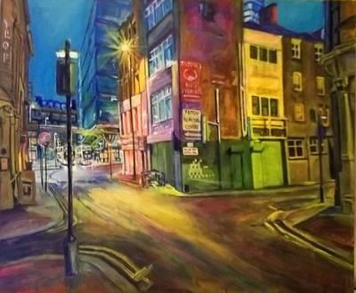 Off Shudehill Manchester Art Print