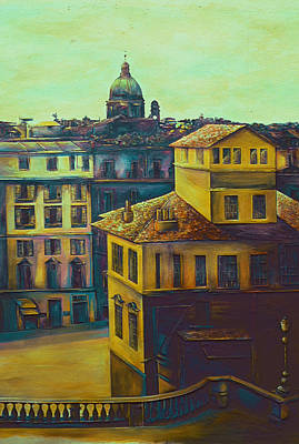 Wall Art - Painting - Off The Spanish Steps, Roma by Gaye Elise Beda
