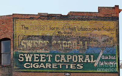 Sweet Caporal Cigarettes Photograph - Off The Wall Advertising by Tonya P Smith