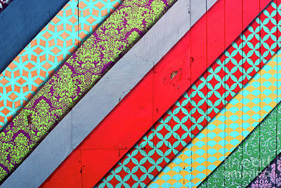 Off The Wall - Pattern 4 Art Print by Colleen Kammerer