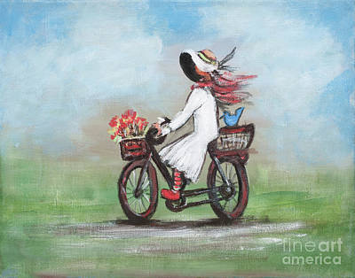 Painting - Off To A Picnic by Pati Pelz