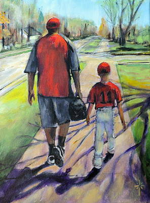 Painting - Off To The Game by Jodie Marie Anne Richardson Traugott          aka jm-ART