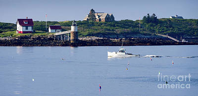Photograph - Off To Work, East Boothbay, Maine #50011 by John Bald