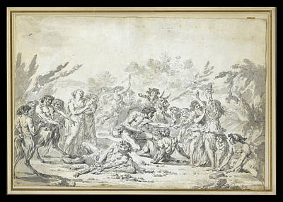 Drawing - Offering To Bacchus by Jacques Gamelin