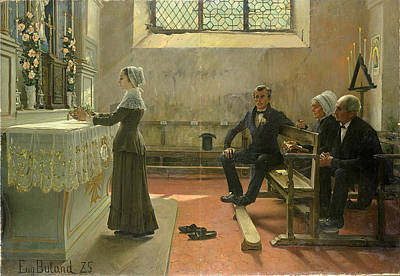 Offering To The Virgin The Day After The Wedding Art Print