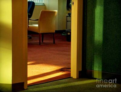 Photograph - Office After-hours - Yellow Chair No. 5 - New York City Interiors by Miriam Danar