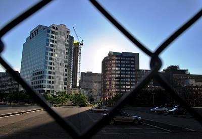 Photograph - Office Building Through A Fence by Matt Harang