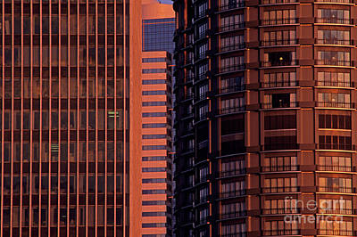 Photograph - Office Buildings Abstract by Jim Corwin