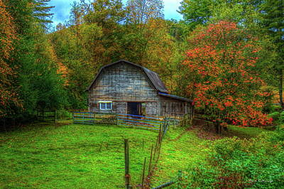Photograph - Office In The Barn Gambrel Barn Art by Reid Callaway