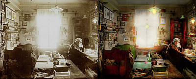 Office - Ole Tobias Olsen 1900 - Side By Side Art Print by Mike Savad